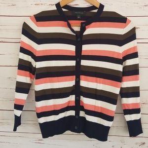 Ann Taylor striped cardigan 3/4 sleeve XS